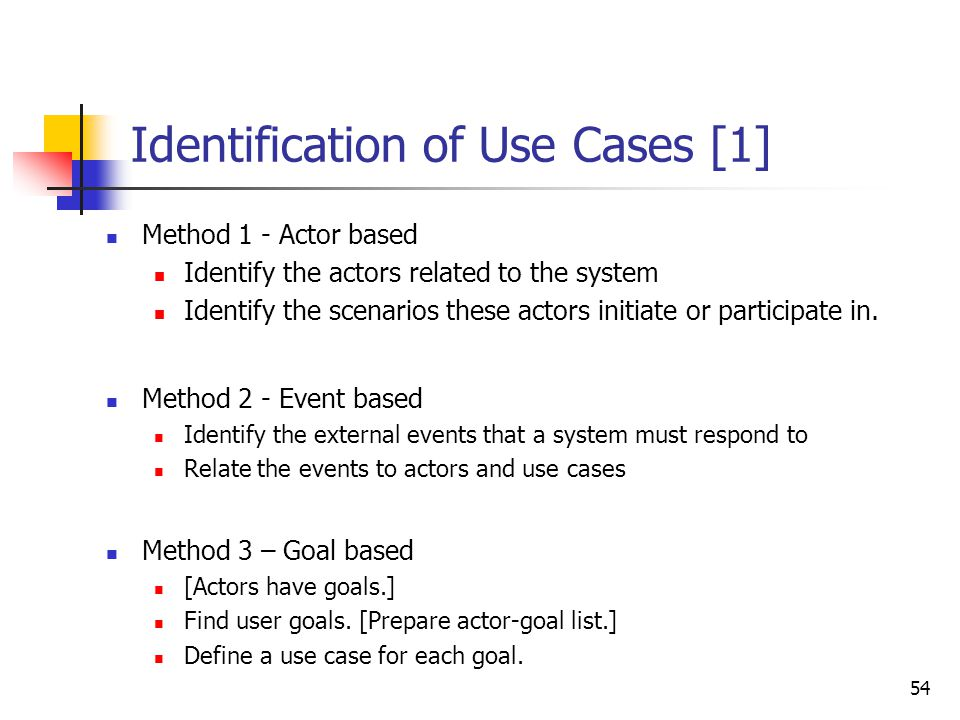 Actors [2] Primary Actor - an entity external to the system that uses system services in a direct manner.
